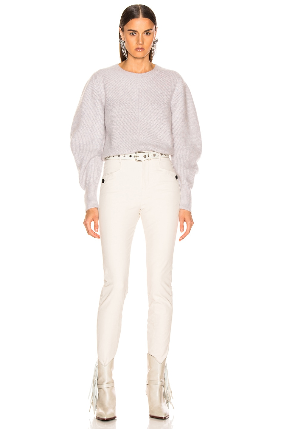 Image 4 of Isabel Marant Swinton Sweater in Greyish Pink