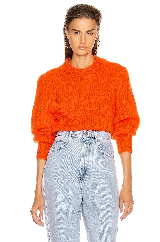 Image 1 of Isabel Marant Ivah Sweater in Poppy Orange