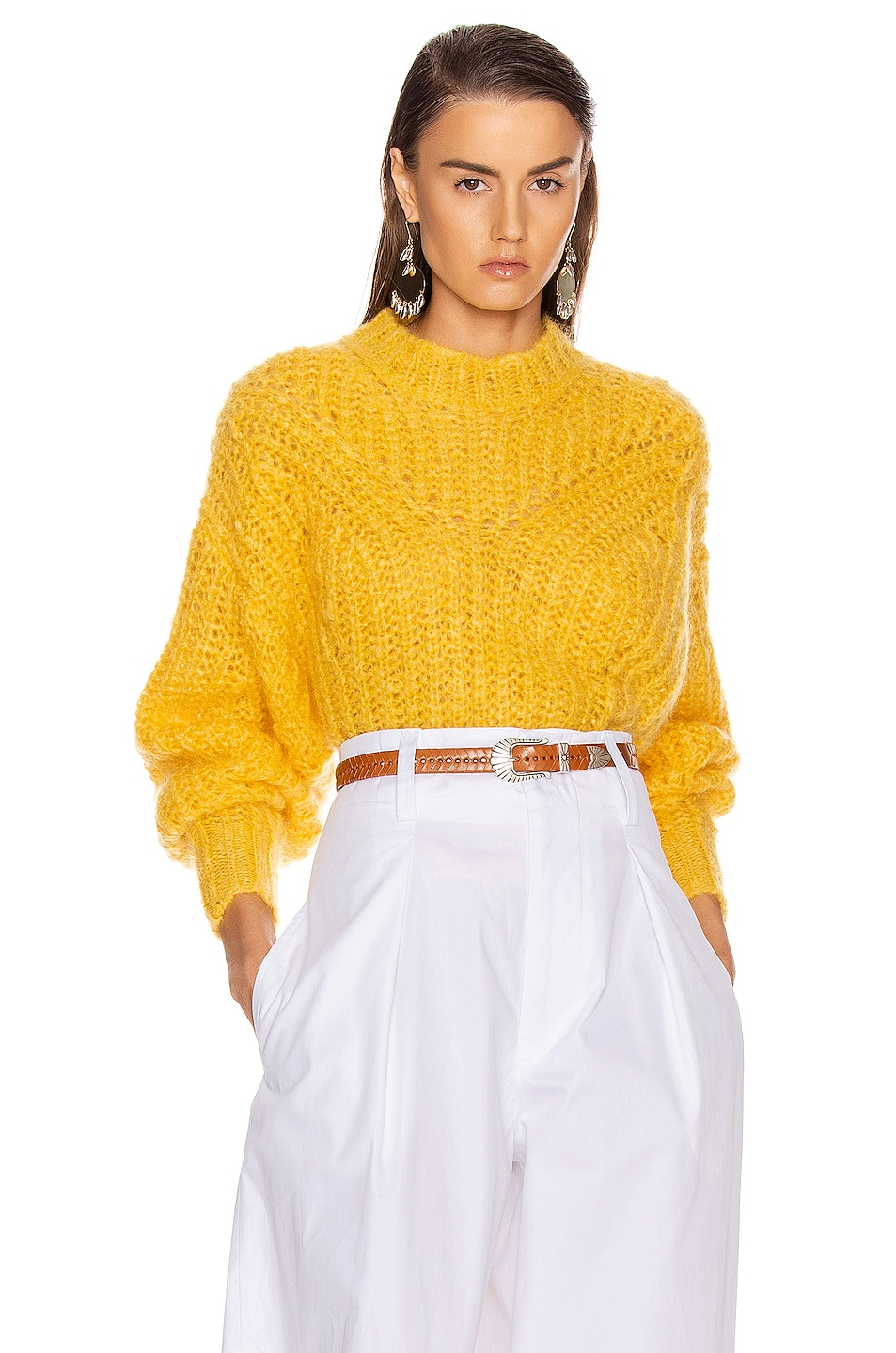 Image 1 of Isabel Marant Inko Sweater in Yellow