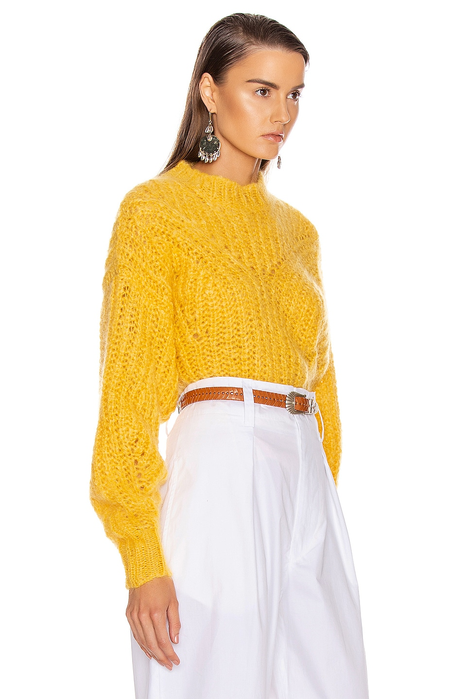 Image 2 of Isabel Marant Inko Sweater in Yellow