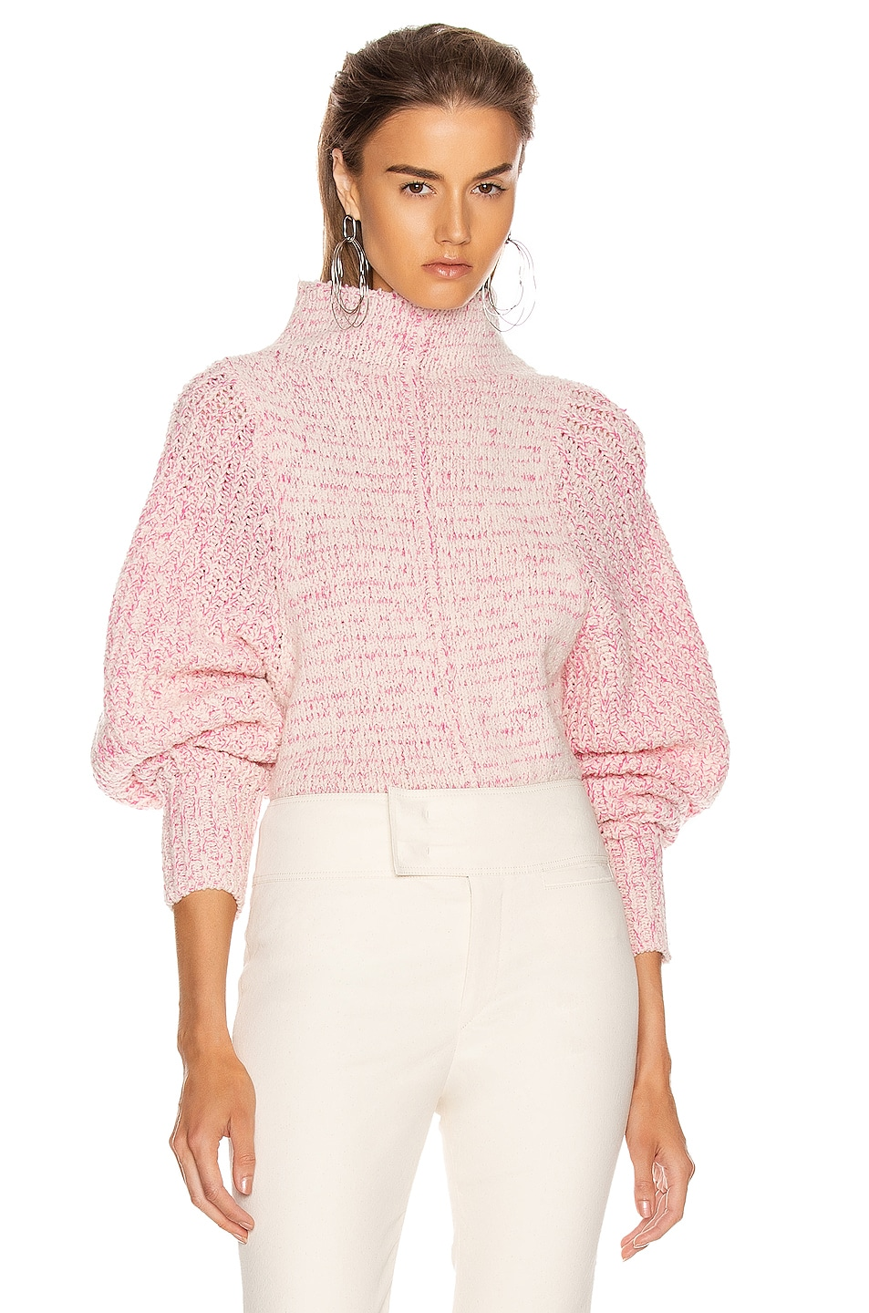 Image 1 of Isabel Marant Edilon Sweater in Neon Pink
