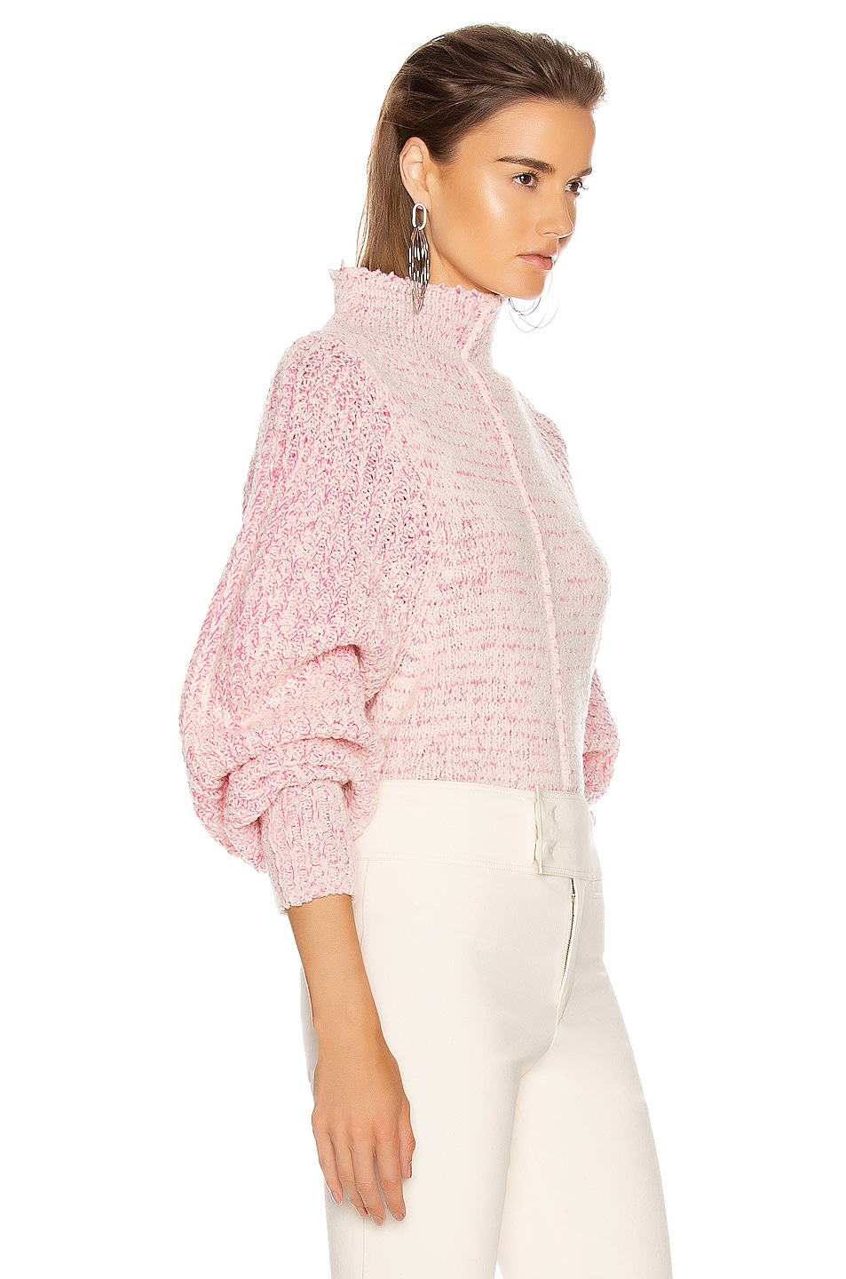 Image 2 of Isabel Marant Edilon Sweater in Neon Pink