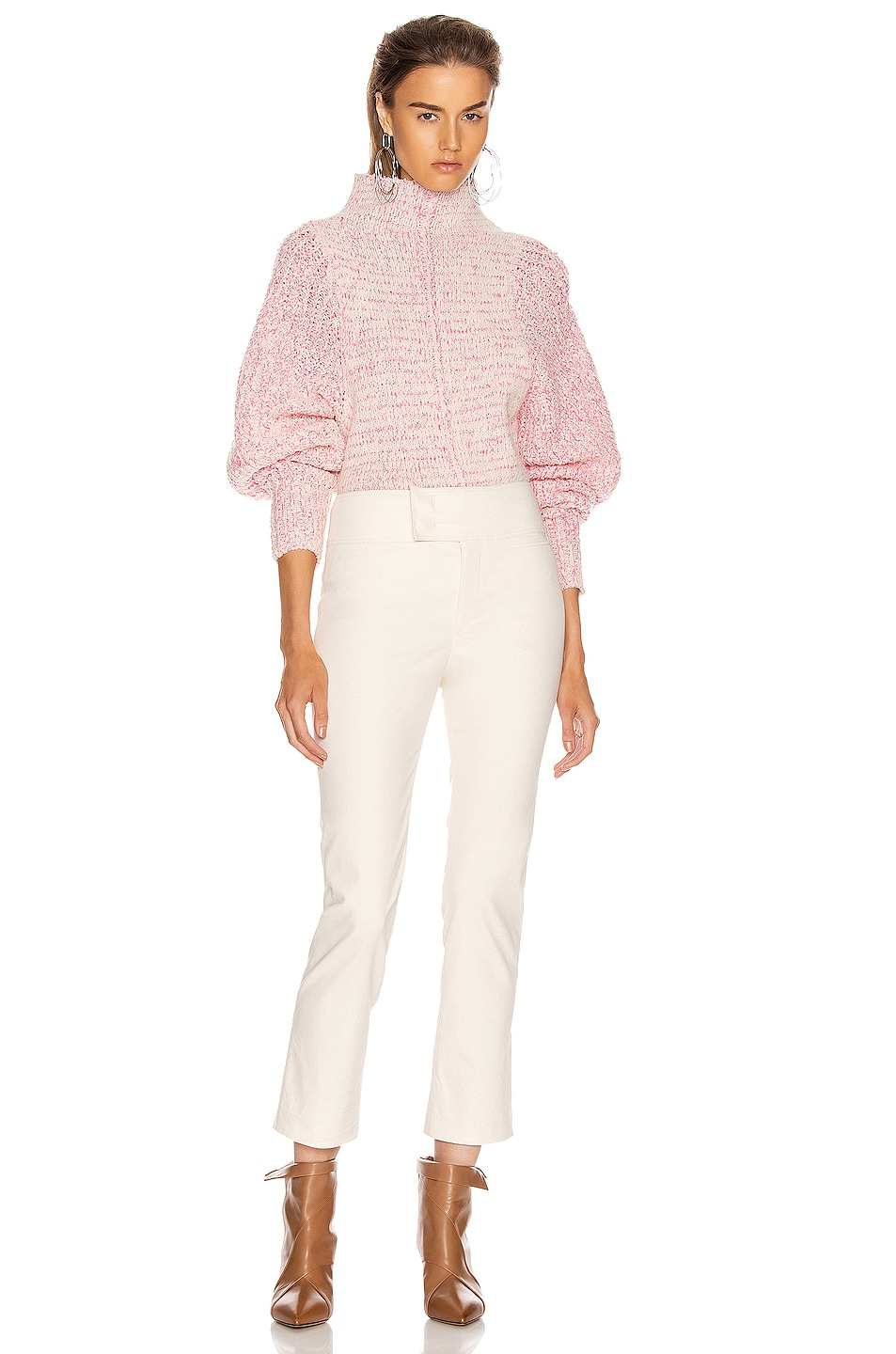 Image 4 of Isabel Marant Edilon Sweater in Neon Pink
