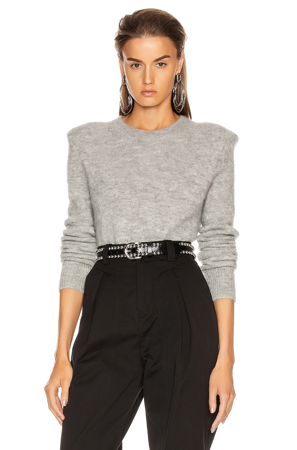 Image 1 of Isabel Marant Flora Sweater in Light Grey