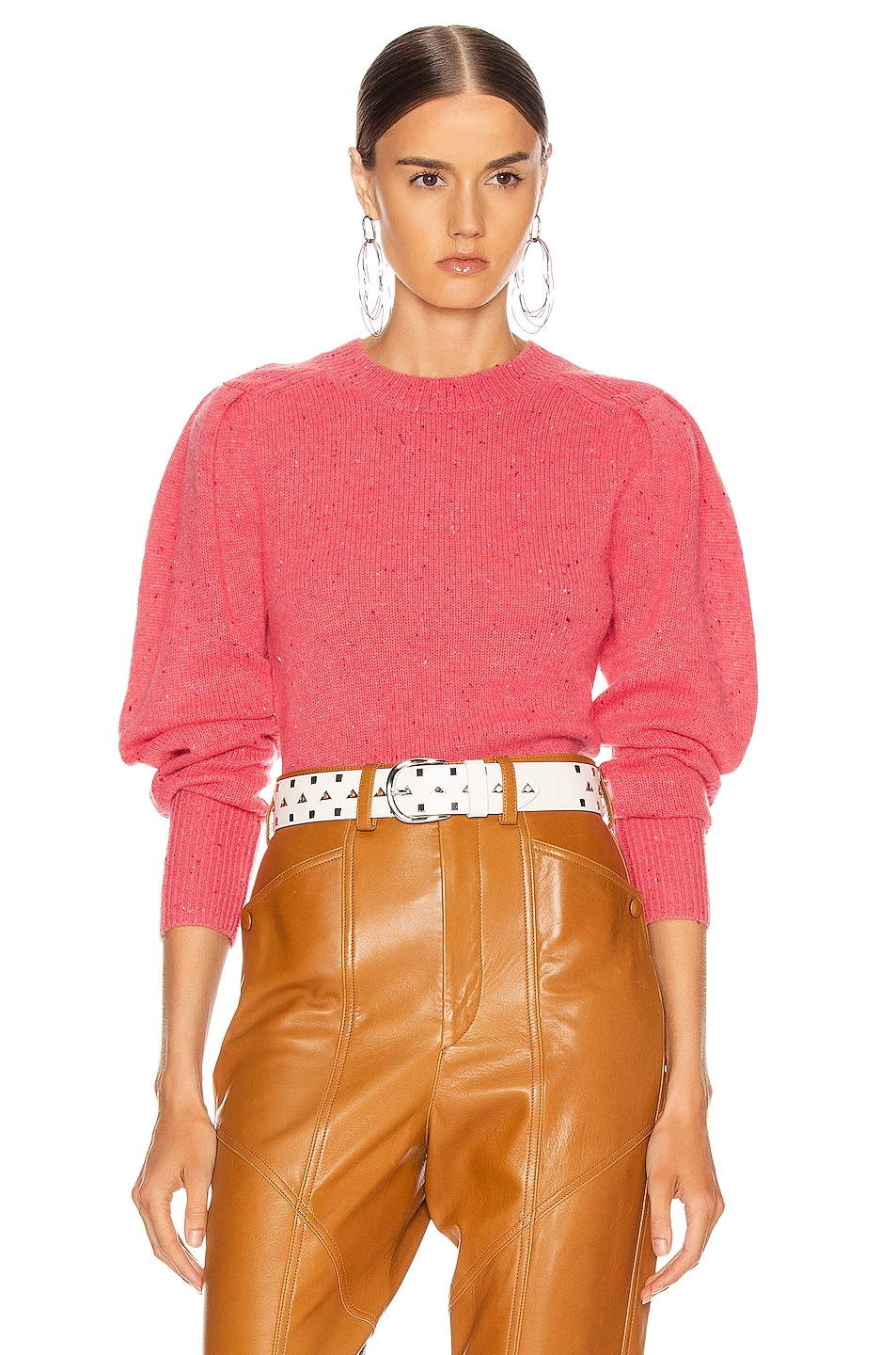 Image 1 of Isabel Marant Colroy Sweater in Candy Pink