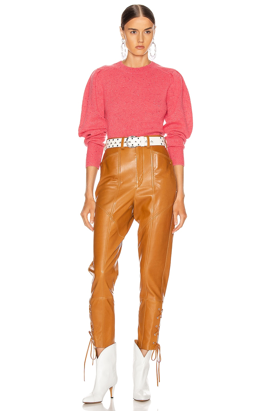 Image 4 of Isabel Marant Colroy Sweater in Candy Pink