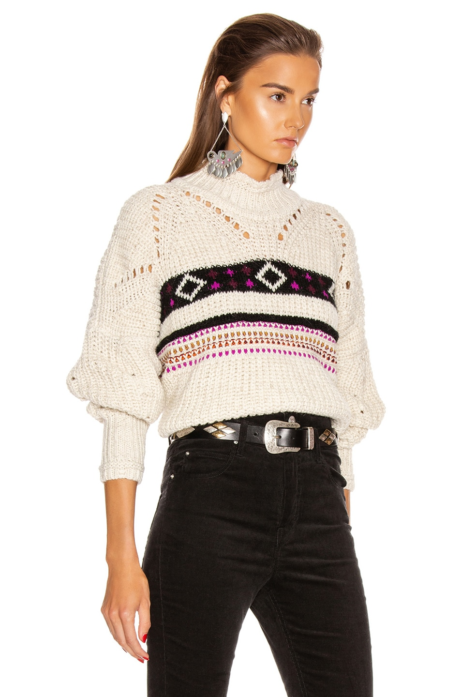 Image 2 of Isabel Marant Caleen Sweater in Ecru
