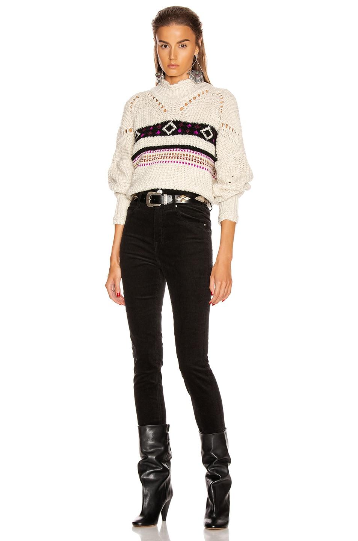 Image 4 of Isabel Marant Caleen Sweater in Ecru