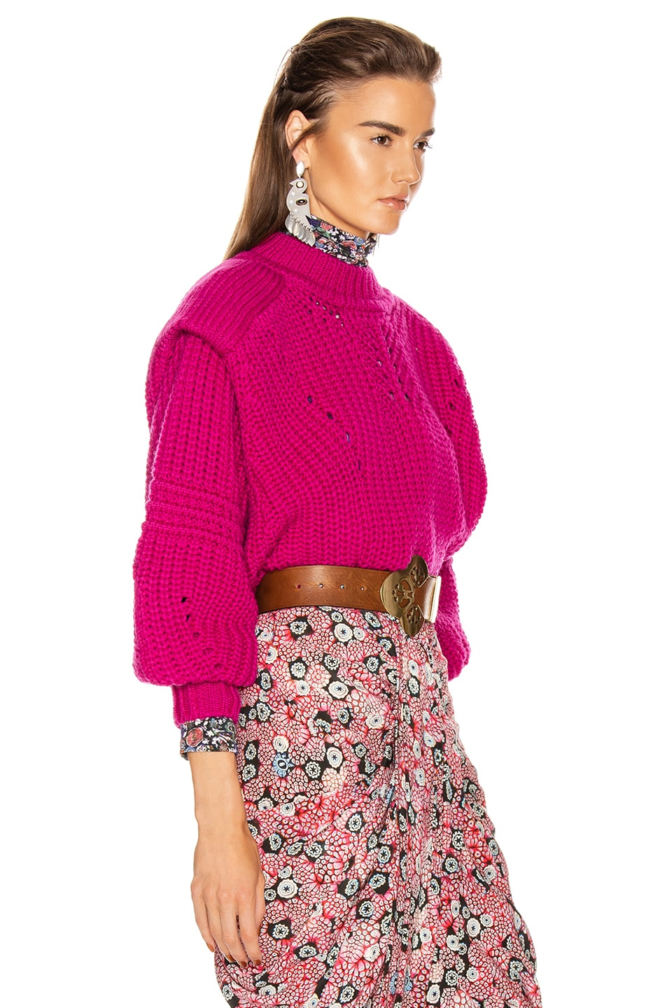 Image 2 of Isabel Marant Kevy Sweater in Fuchsia