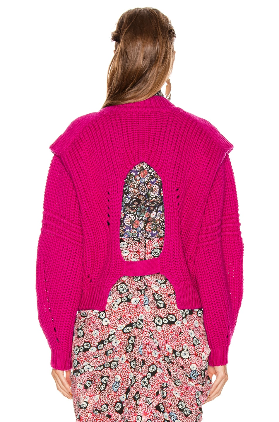 Image 3 of Isabel Marant Kevy Sweater in Fuchsia