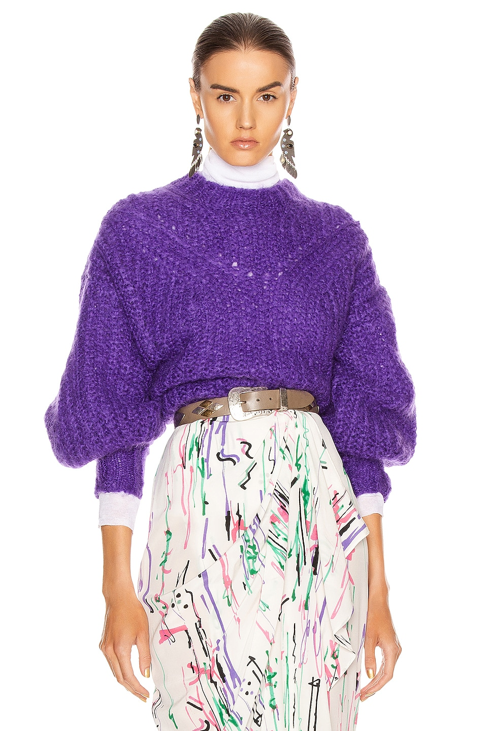 Image 1 of Isabel Marant Inko Sweater in Purple