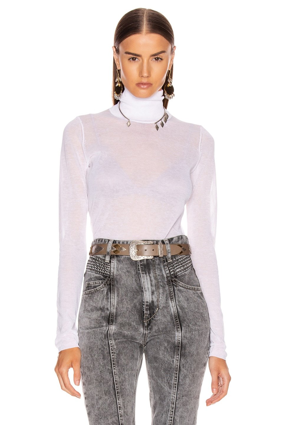 Image 1 of Isabel Marant Azale Knit Top in White