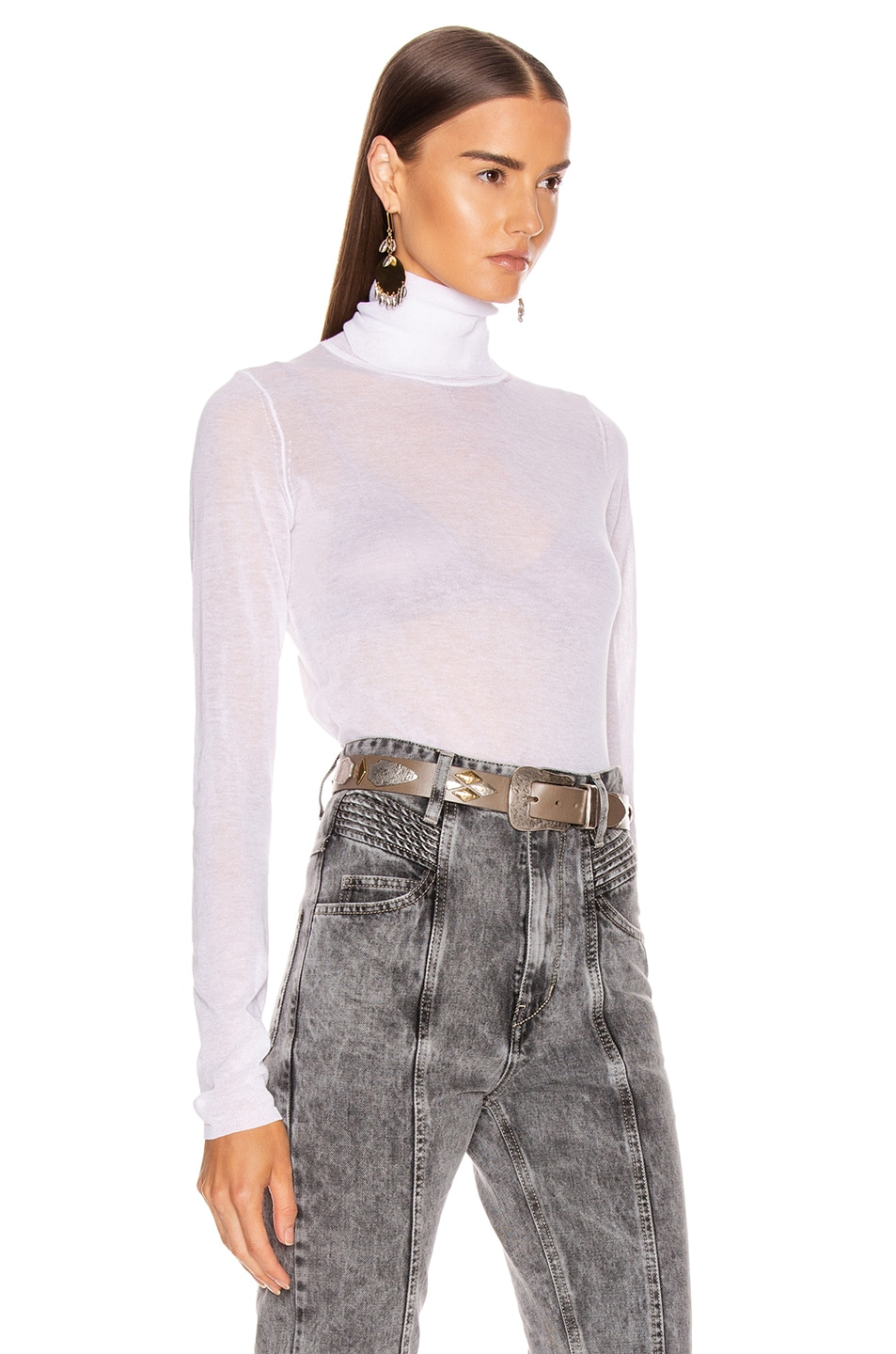 Image 2 of Isabel Marant Azale Knit Top in White