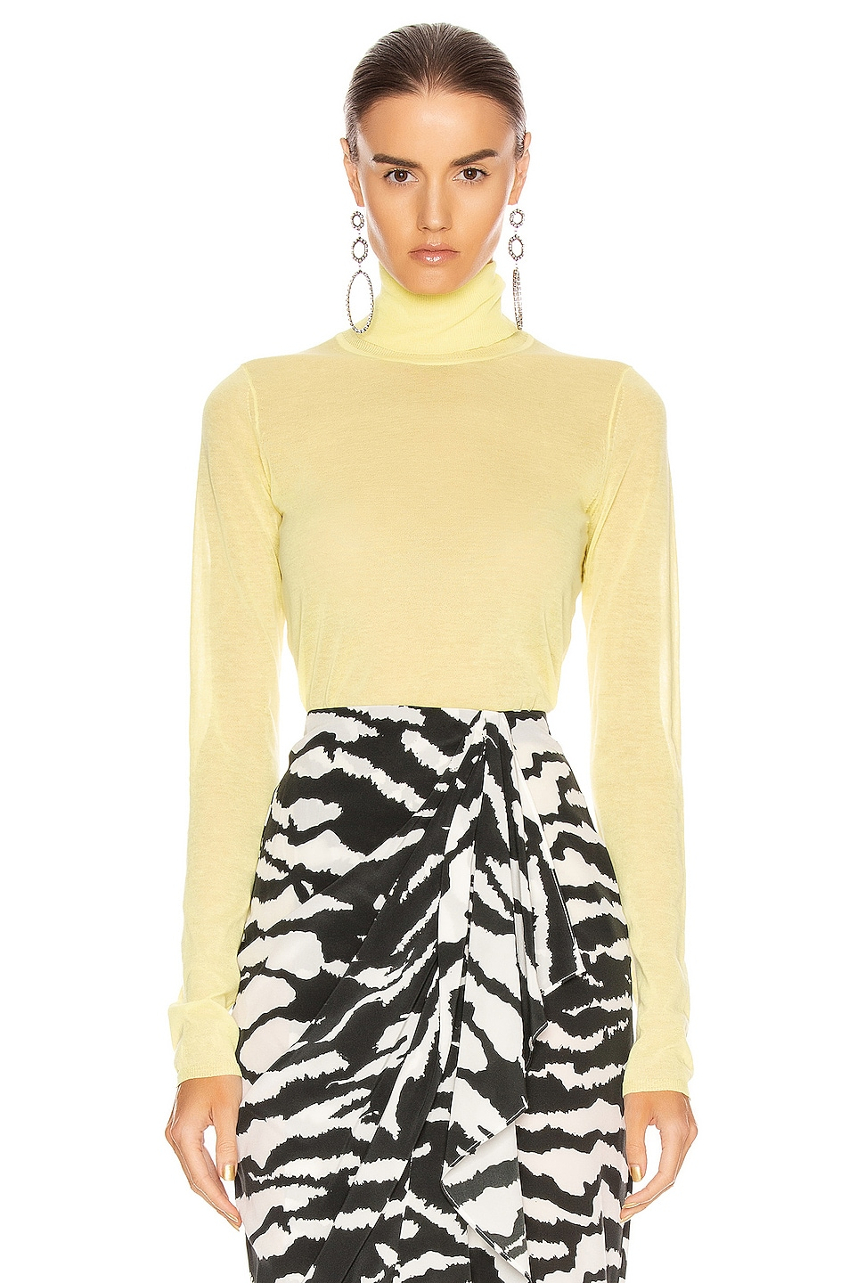 Image 1 of Isabel Marant Azale Knit Top in Yellow