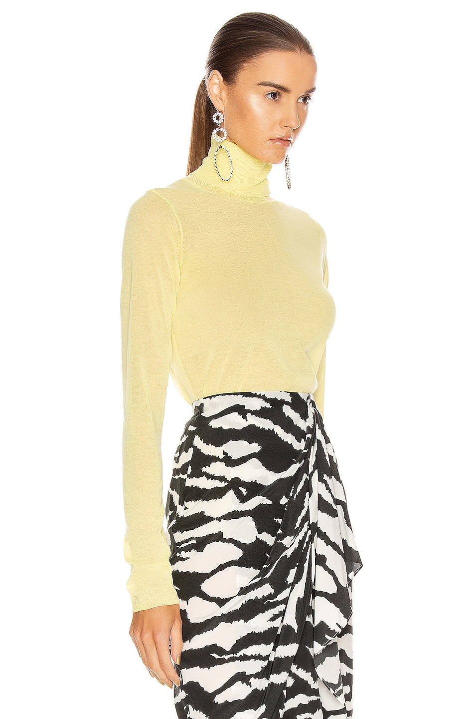 Image 2 of Isabel Marant Azale Knit Top in Yellow