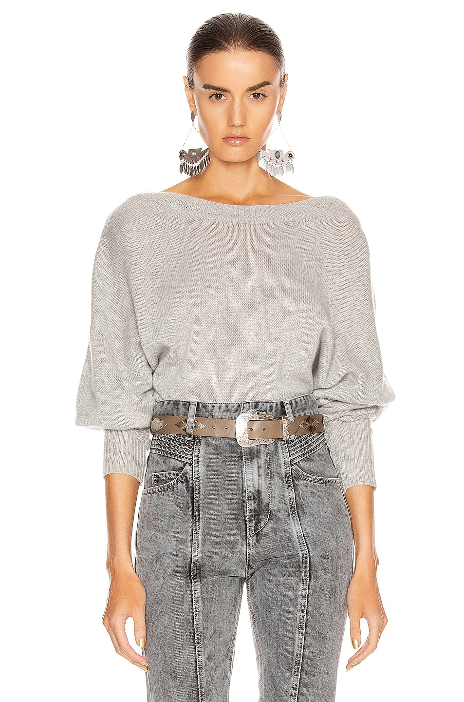 Image 2 of Isabel Marant Caleb Sweater in Grey