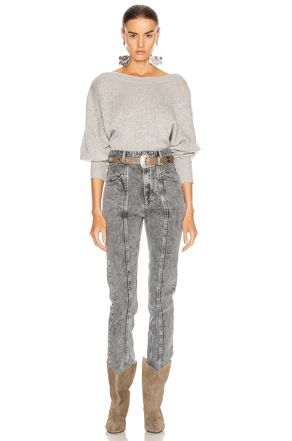 Image 5 of Isabel Marant Caleb Sweater in Grey