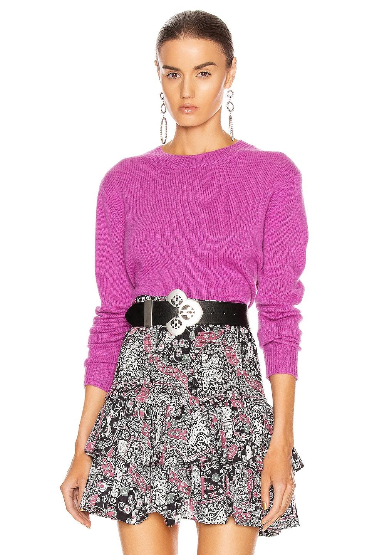 Image 1 of Isabel Marant Cyllia Sweater in Fuchsia