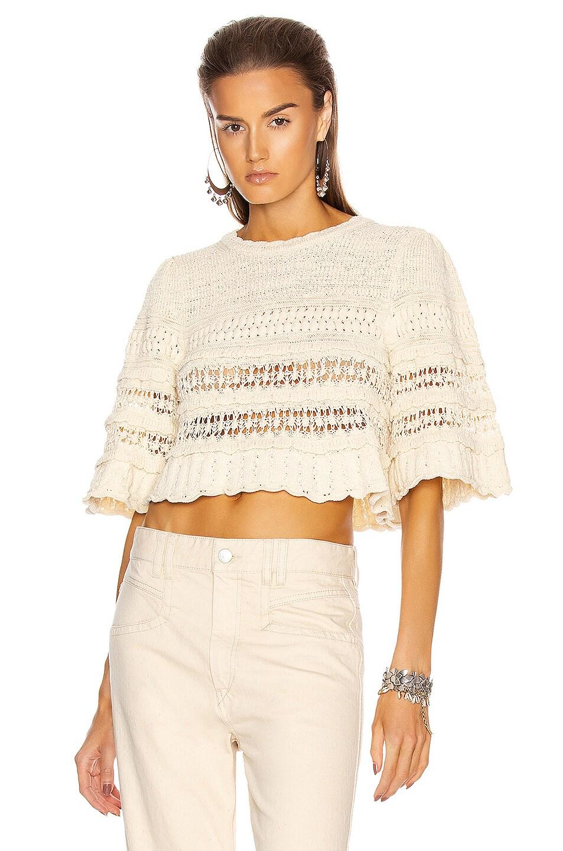Image 1 of Isabel Marant Friz Sweater in Ecru