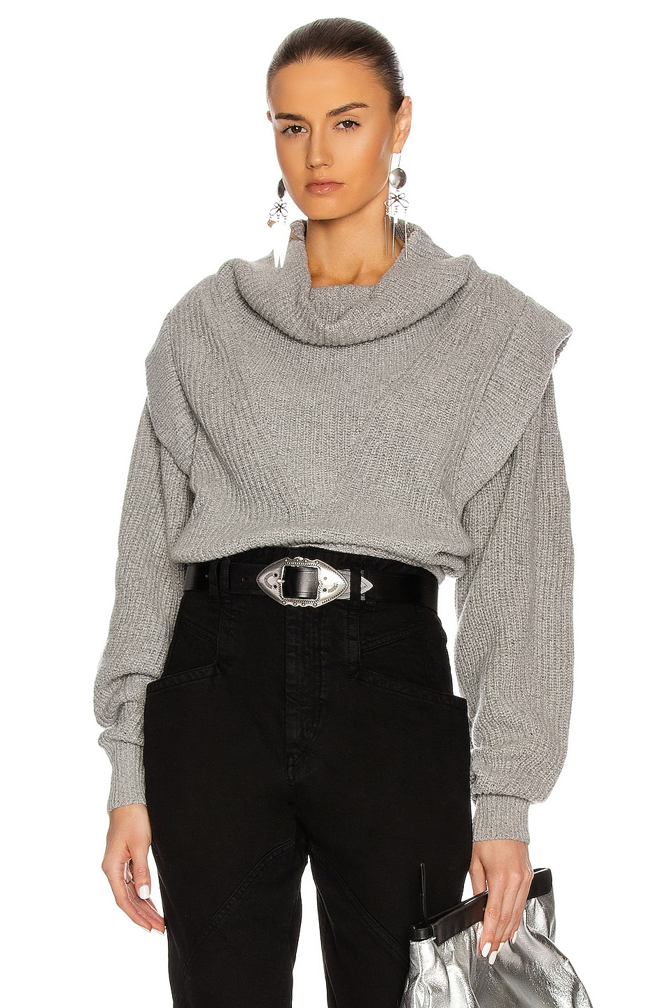 Image 1 of Isabel Marant Poppy Sweater in Grey