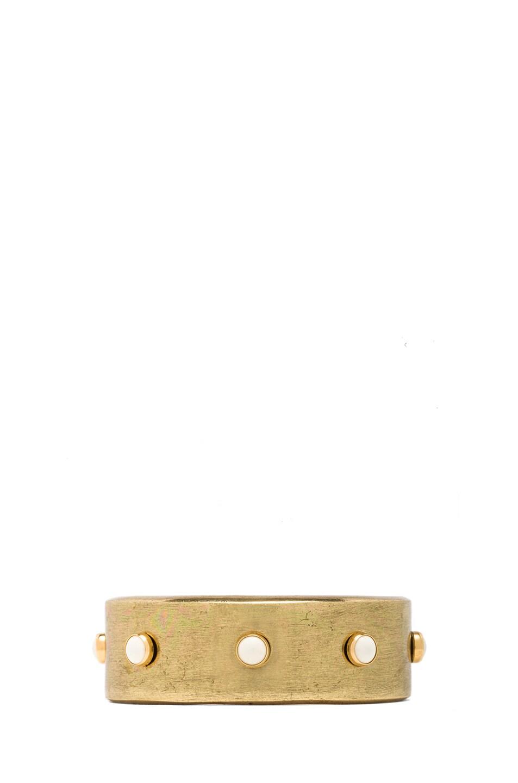 Image 1 of Isabel Marant Romy Cuff in Gold & Ecru