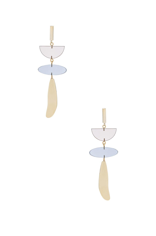 Image 1 of Isabel Marant Brass Drop Earrings in Brown