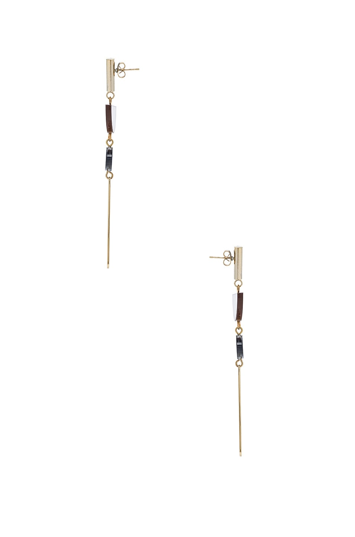 Image 2 of Isabel Marant Brass Drop Earrings in Brown