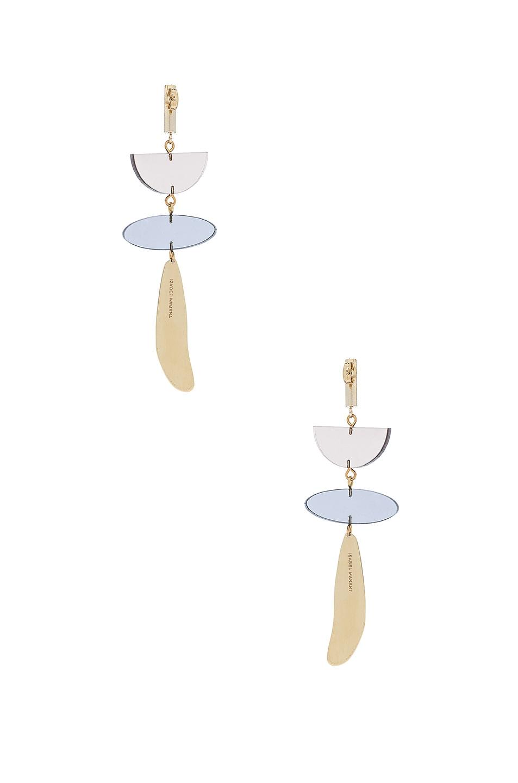 Image 3 of Isabel Marant Brass Drop Earrings in Brown
