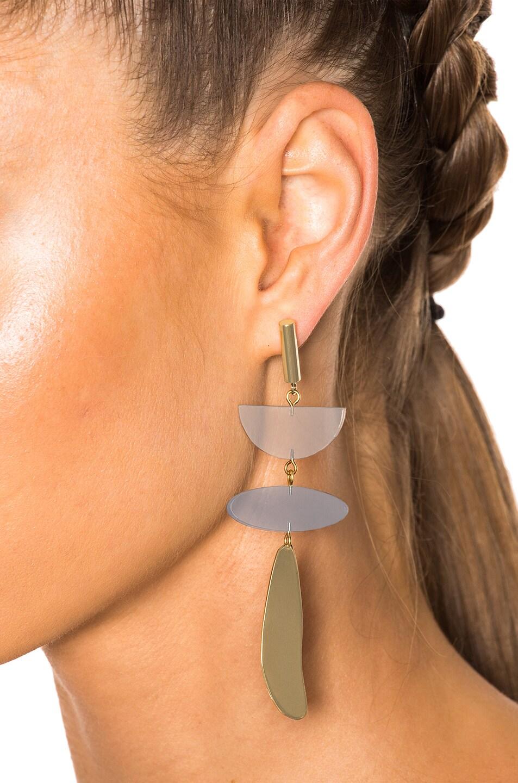 Image 4 of Isabel Marant Brass Drop Earrings in Brown