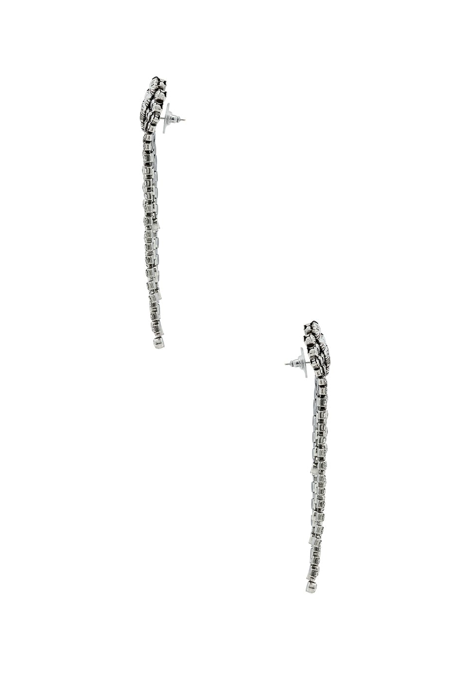 Image 2 of Isabel Marant Crystal Cascade Earrings in Silver