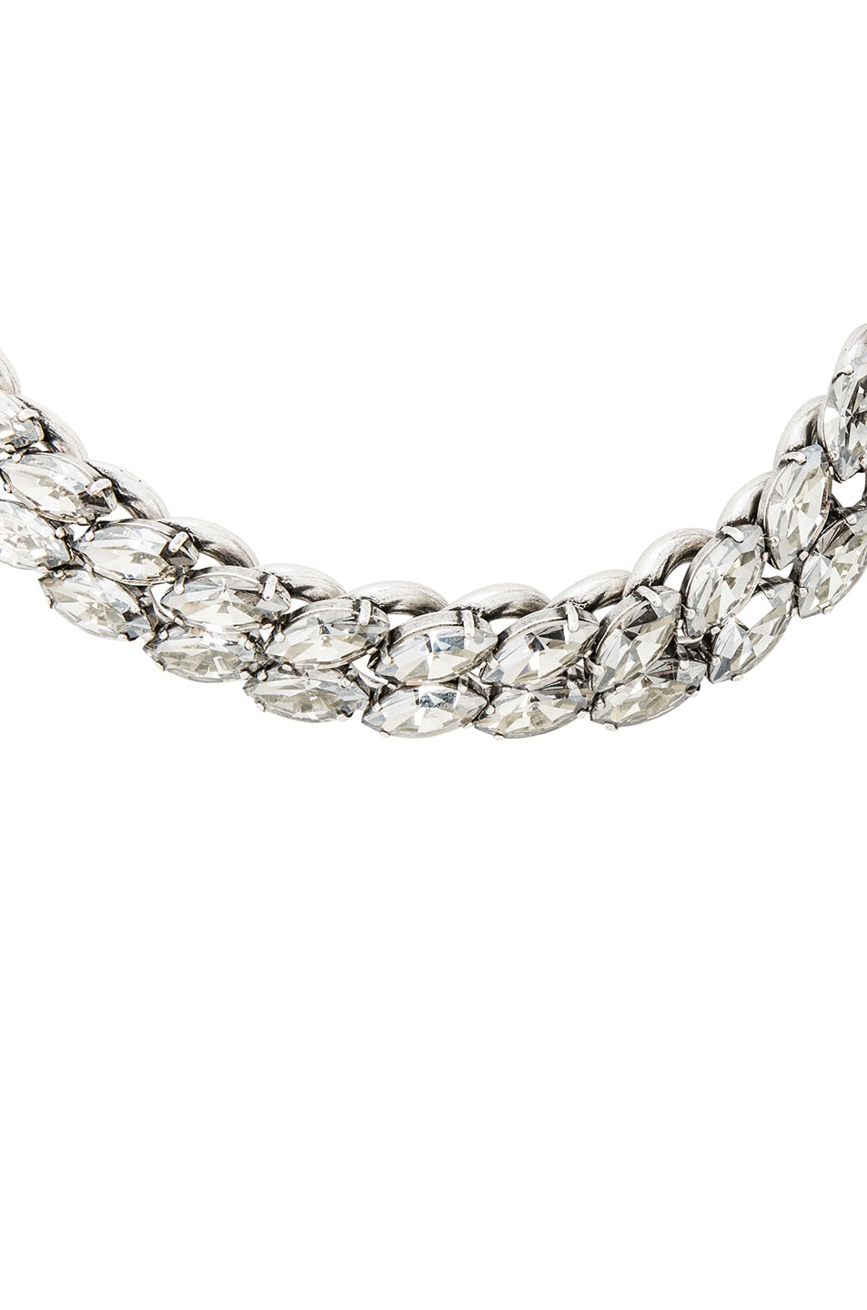 Image 2 of Isabel Marant Crystal Embellished Chain Choker in Silver
