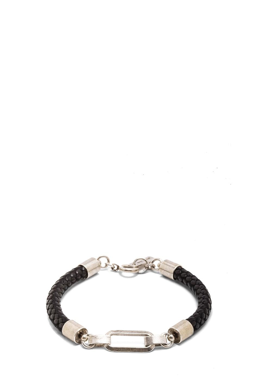 Image 1 of Isabel Marant Happy Wednesday Brass Bracelet in Silver & Black