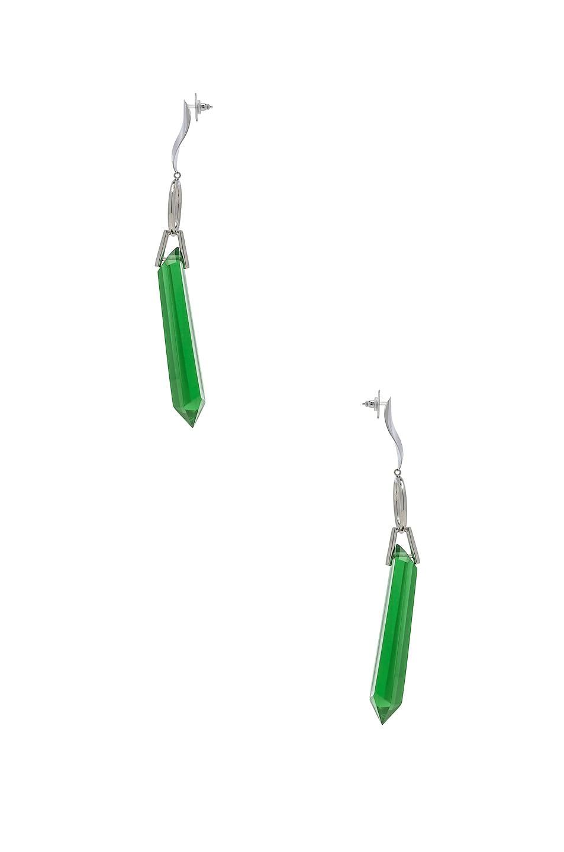 Image 3 of Isabel Marant Stalk Earrings in Green