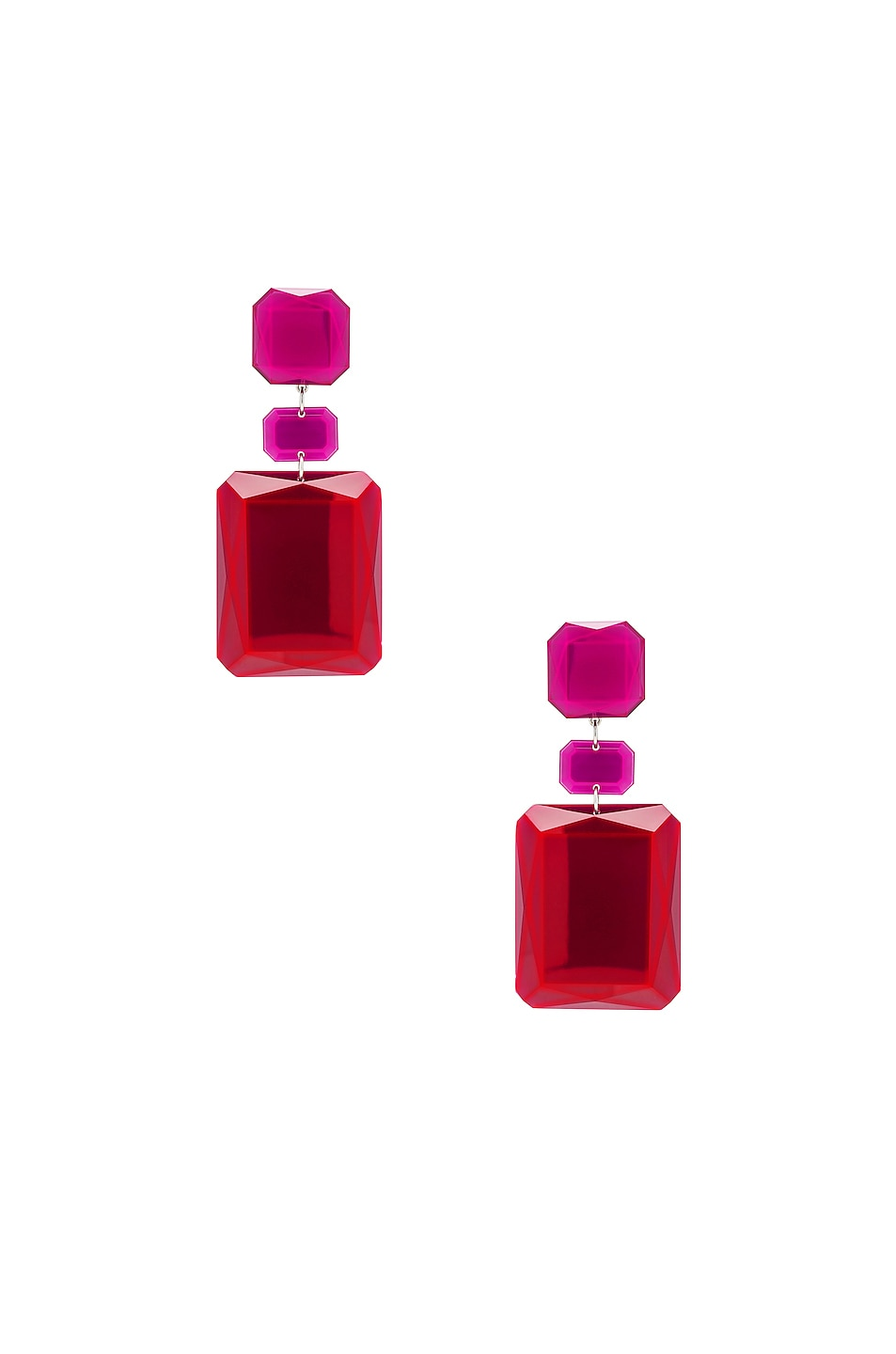 Image 1 of Isabel Marant Big Mama Earrings in Red