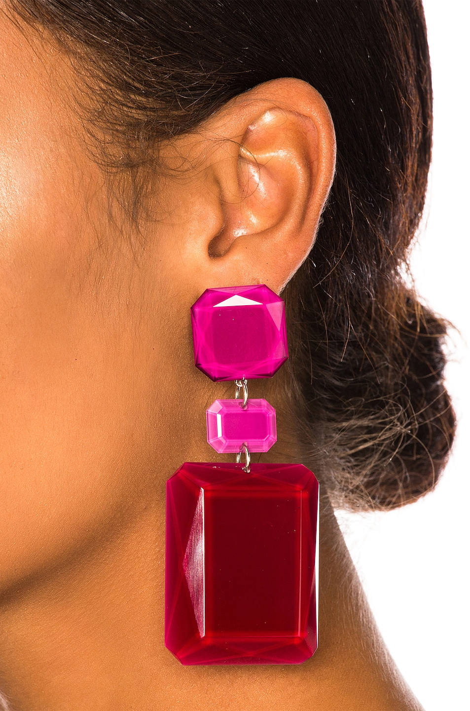 Image 2 of Isabel Marant Big Mama Earrings in Red