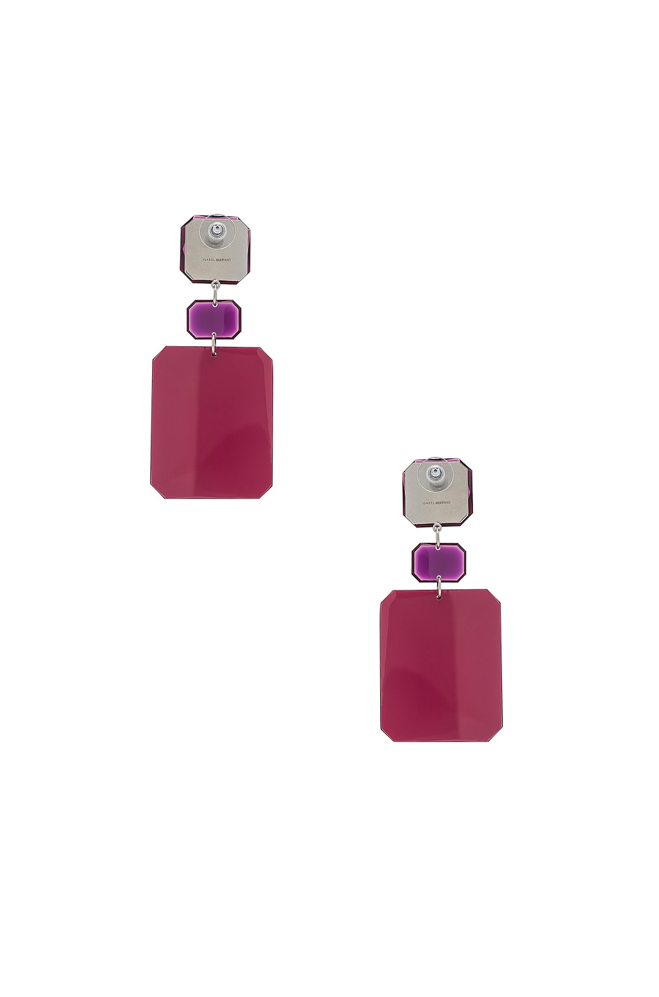 Image 4 of Isabel Marant Big Mama Earrings in Red