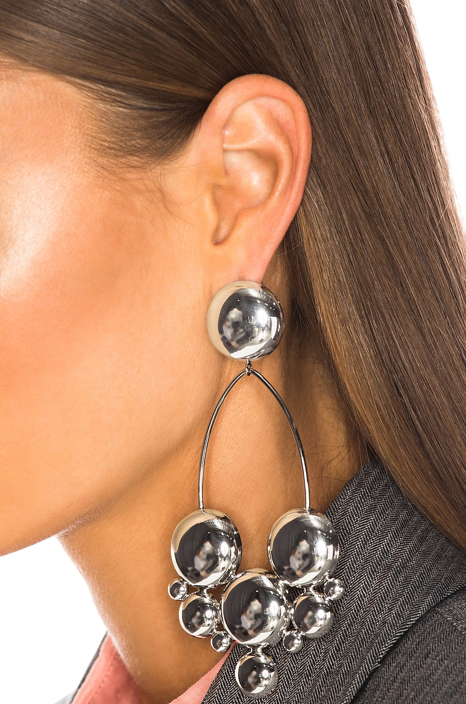 Image 2 of Isabel Marant Boo Earrings in Silver