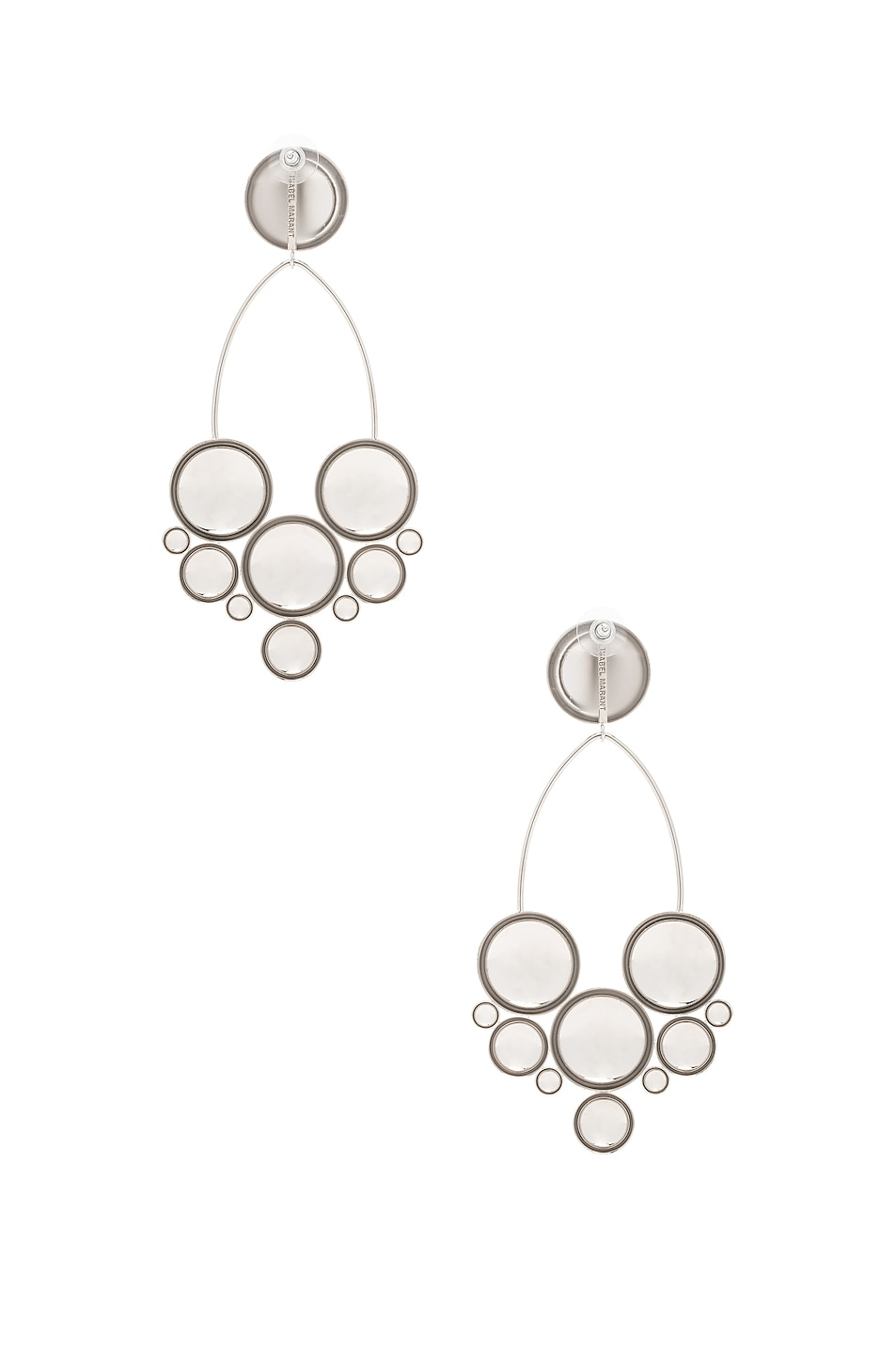 Image 4 of Isabel Marant Boo Earrings in Silver