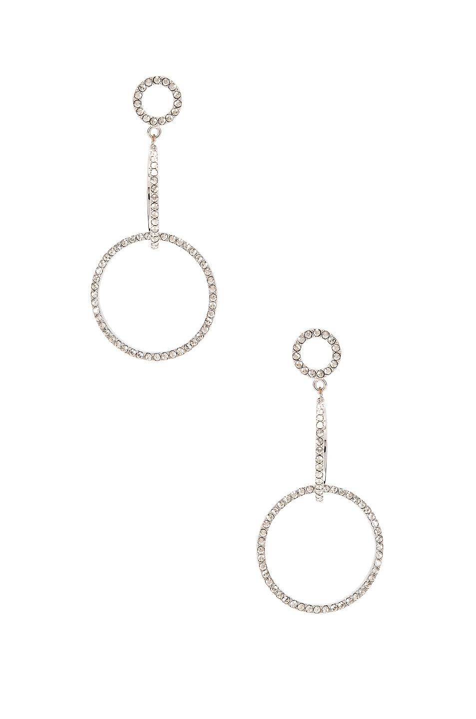 Image 1 of Isabel Marant Circle Drop Earrings in Transparent