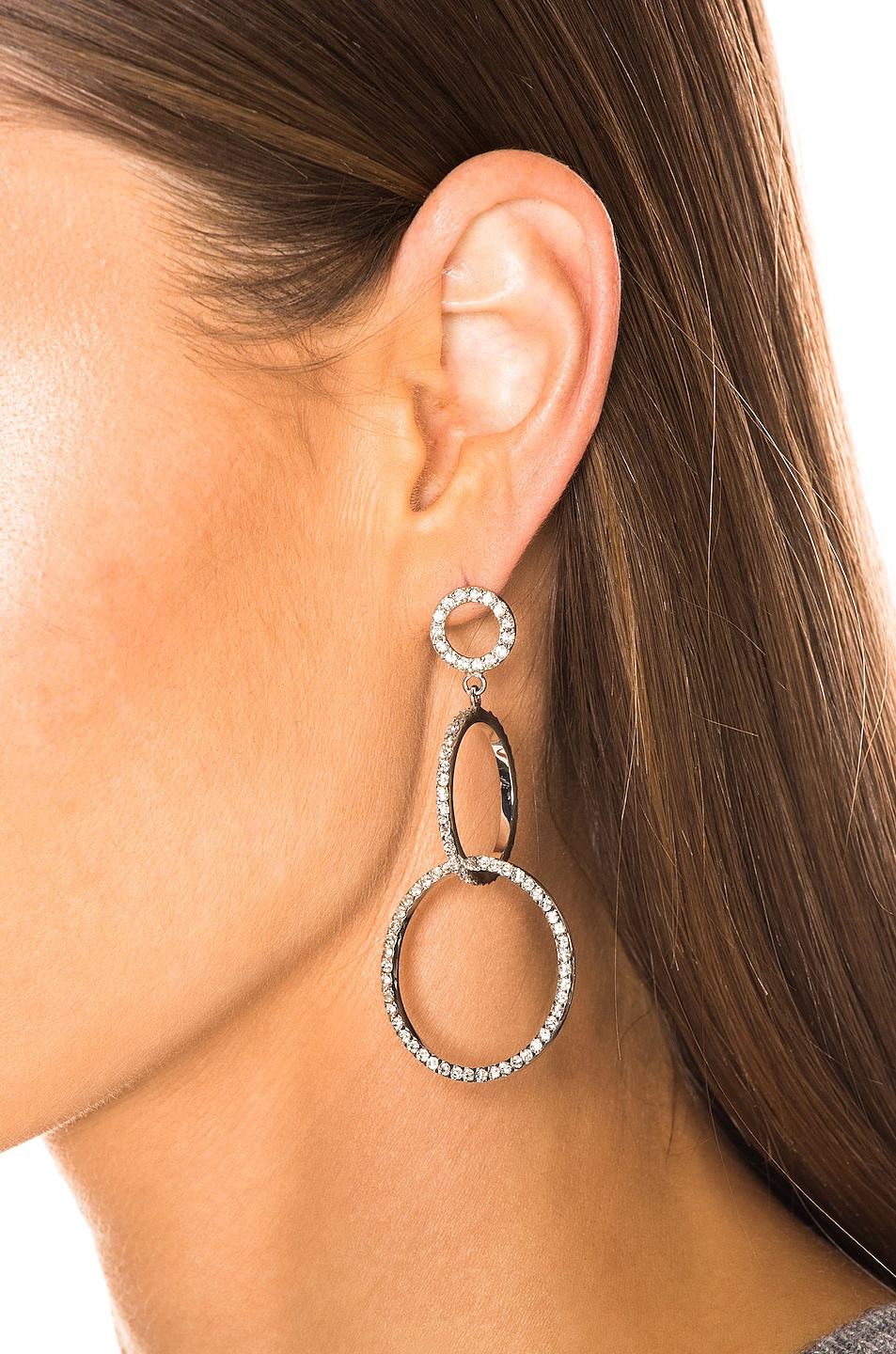 Image 2 of Isabel Marant Circle Drop Earrings in Transparent