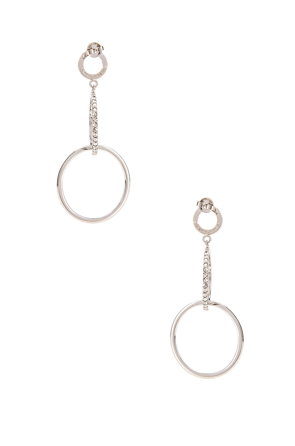 Image 4 of Isabel Marant Circle Drop Earrings in Transparent