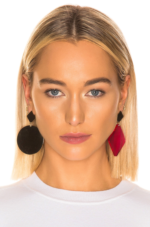 Image 2 of Isabel Marant Geometric Earrings in Fuchsia