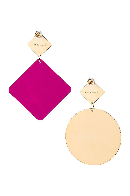 Image 4 of Isabel Marant Geometric Earrings in Fuchsia