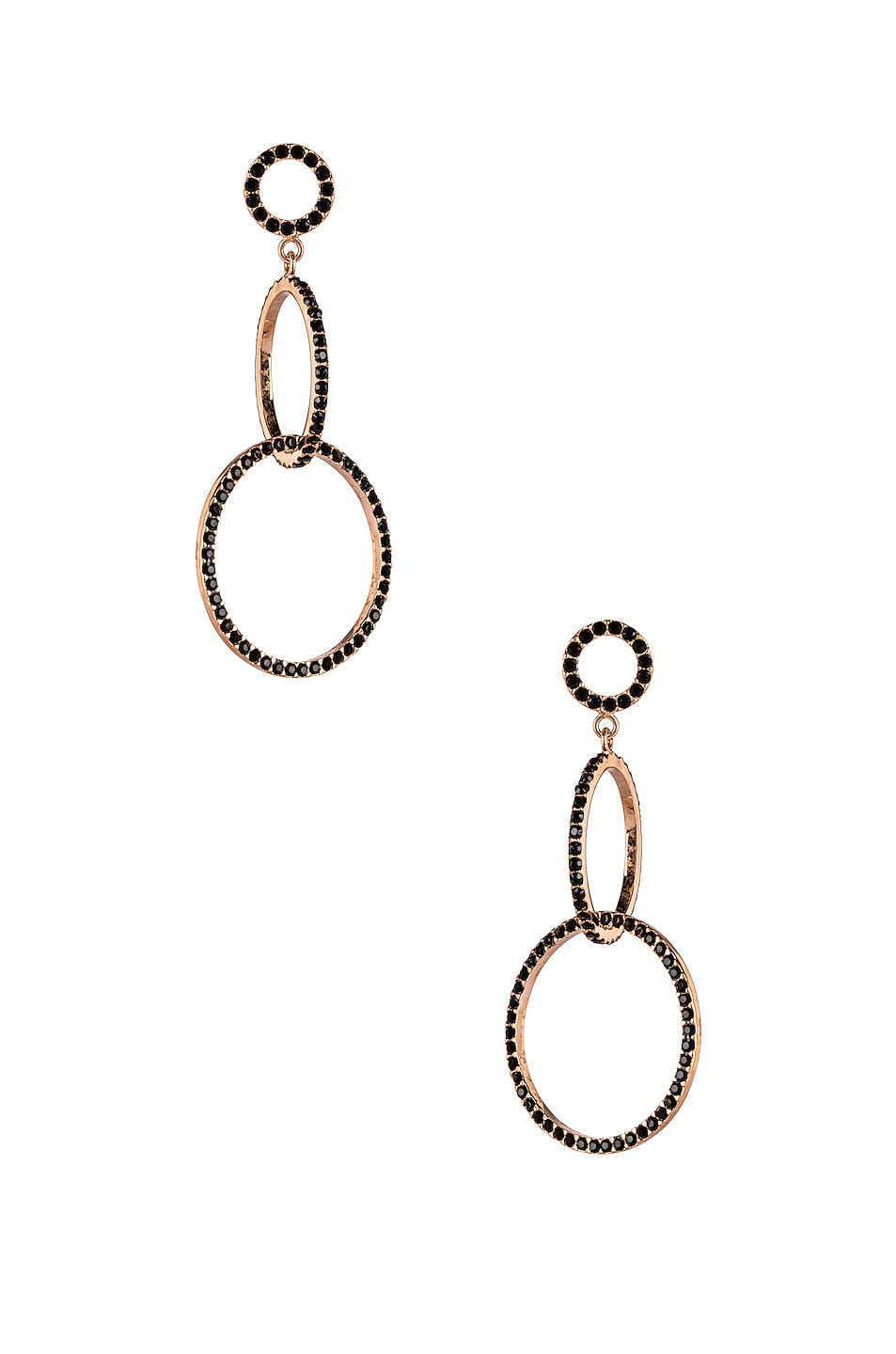 Image 1 of Isabel Marant Circle Drop Earrings in Black