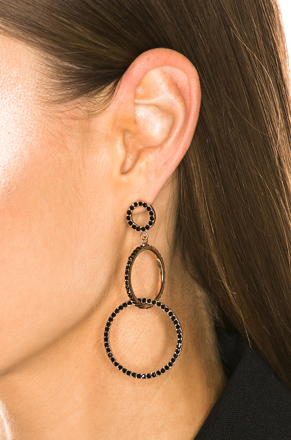 Image 2 of Isabel Marant Circle Drop Earrings in Black