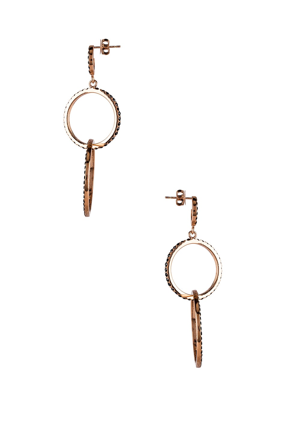 Image 3 of Isabel Marant Circle Drop Earrings in Black