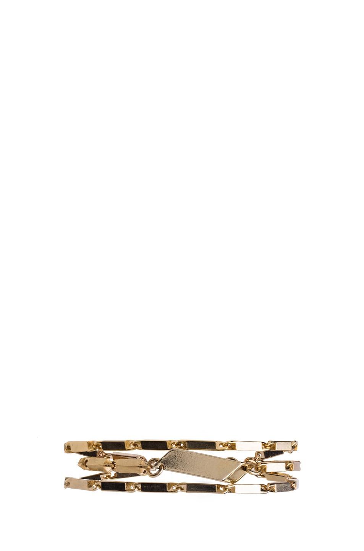 Image 1 of Isabel Marant Mondrian Antique Brass Bracelet in Gold