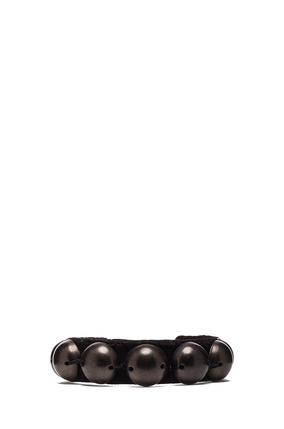 Image 1 of Isabel Marant Patterson Brass & Leather Studded Cuff in Black
