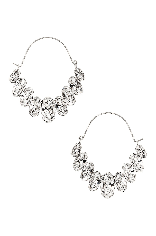 Image 1 of Isabel Marant Ho La La Earrings in Transparent & Silver