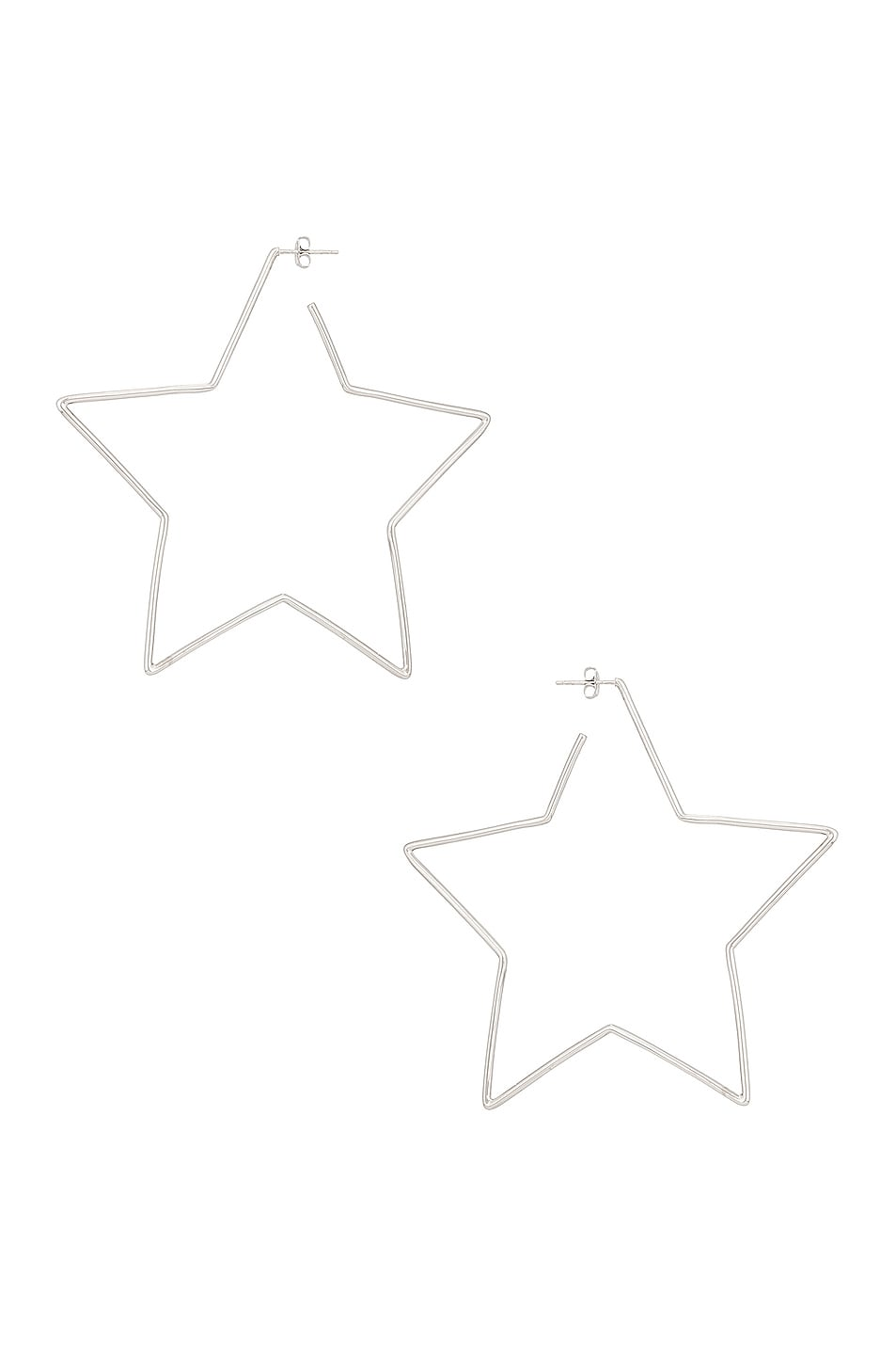 Image 1 of Isabel Marant Shiny in Love Star Earrings in Silver
